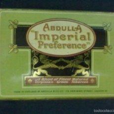 Paquetes de tabaco: CAJA LATA CIGARRILLOS IMPERIAL PREFERENTE 50 CIGARETTES. Lote 57846262