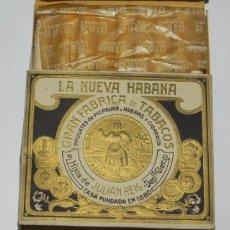 Paquetes de tabaco: CIGARROS HIJOS DE JULIAN REIG, LA NUEVA HABANA GRAN FABRICA DE TABACOS PAQUETES DE PICADURA HEBRAS . Lote 57945450