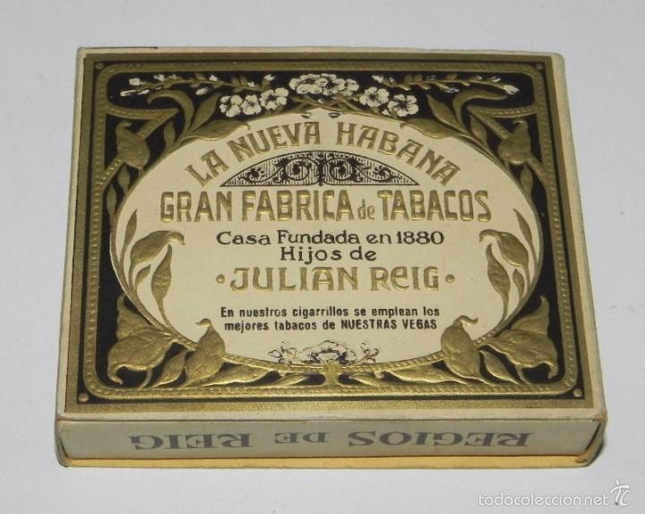Paquetes de tabaco: Cigarros Hijos de Julian Reig, La Nueva Habana Gran Fabrica de Tabacos Paquetes de Picadura Hebras - Foto 2 - 57945450