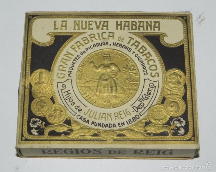 Paquetes de tabaco: Cigarros Hijos de Julian Reig, La Nueva Habana Gran Fabrica de Tabacos Paquetes de Picadura Hebras - Foto 3 - 57945450