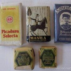 Paquetes de tabaco: CINCO ANTIGUOS PAQUETES DE PICADURA DE TABACO. Lote 57951699