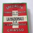 Paquetes de tabaco: PAQUETE DE TABACO LA NAZIONAL S.A, CHIASSO SUIZA, VACIO.. Lote 57969734