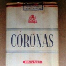 Paquetes de tabaco: 1 ANTIGUA ('60S-'70S) CAJETILLA CON CIGARRILLOS - NUNCA ABIERTA - 'CORONAS' (KING SIZE). Lote 77373806