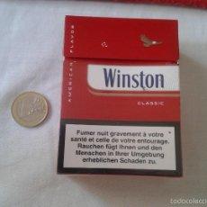 Paquetes de tabaco: PAQUETE DE CIGARRILLOS TABACO VACIO CAJETILLA DURA WINSTON 30 CIGARRILLOS LUXEMBURGO VER FOTO/S Y DE. Lote 130687713