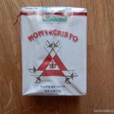 Paquetes de tabaco: PAQUETE DE TABACO CIGARRILLOS MONTECRISTO SUPERFINOS NEGROS. Lote 59427470