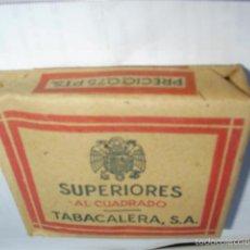 Paquetes de tabaco: PAQUETE DE TABACO SUPERIORES AL CUADRADO, 1948, 20 CIGARRILLOS. Lote 59429190