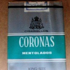 Paquetes de tabaco: 1 ANTIGUA ('60S-'70S) CAJETILLA CON CIGARRILLOS - NUNCA ABIERTA - 'CORONAS' (MENTOLADOS K.S. FILTRO). Lote 60132839