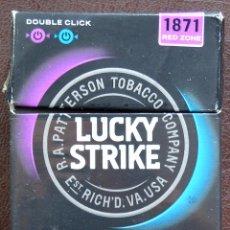 Paquetes de tabaco: LUCKY STRIKE - DOUBLE CLICK - 1871 RED ZONE - PAQUETE DE TABACO VACIO - PAIS DEL ESTE. Lote 195098410