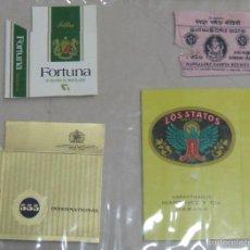 Paquetes de tabaco: LOTE DE 4 FRONTALES DE PAQUETE DE TABACO. LOS DE LA FOTO. VER. Lote 60329403