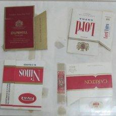 Paquetes de tabaco: HOJA CON LOTE DE 6 FRONTALES DE PAQUETE DE TABACO. LOS DE LA FOTO. VER. Lote 60329563