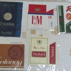 Paquetes de tabaco: HOJA CON LOTE DE 6 FRONTALES DE PAQUETE DE TABACO. LOS DE LA FOTO. VER. Lote 60329727