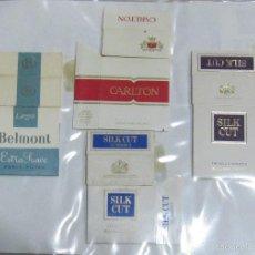 Paquetes de tabaco: HOJA CON LOTE DE 7 FRONTALES DE PAQUETE DE TABACO. LOS DE LA FOTO. VER. Lote 60329783
