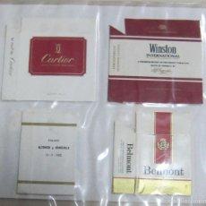 Paquetes de tabaco: HOJA CON LOTE DE 8 FRONTALES DE PAQUETE DE TABACO. LOS DE LA FOTO. VER. Lote 60329895