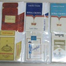 Paquetes de tabaco: HOJA CON LOTE DE 12 FRONTALES DE PAQUETE DE TABACO. LOS DE LA FOTO. VER. Lote 60330363