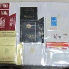 Paquetes de tabaco: HOJA CON LOTE DE 10 FRONTALES DE PAQUETE DE TABACO. LOS DE LA FOTO. VER. Lote 60330515