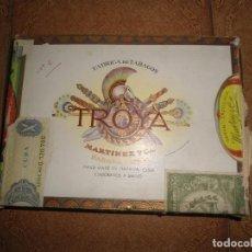 Paquetes de tabaco: ANTIGUA CAJA TABACOS TROYA. Lote 61757504