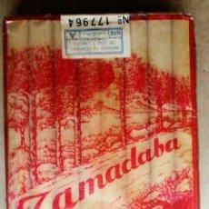 Paquetes de tabaco: 1 ANTIGUA ('60S) CAJETILLA CON CIGARRILLOS - NUNCA ABIERTA - 'TAMADABA' (CELOFÁN-ROJA). ÚNICA. RARA. Lote 62180828