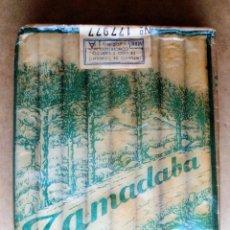 Paquetes de tabaco: 1 ANTIGUA ('60S) CAJETILLA CON CIGARRILLOS - NUNCA ABIERTA - 'TAMADABA' (CELOFÁN-VERDE). ÚNICA. RARA. Lote 62475536