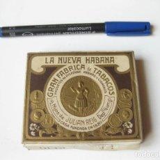 Paquetes de tabaco: CAJA O PAQUETE DE TABACO DE 20 CIGARRILLOS. LA NUEVA HABANA. GRAN FABRICA DE TABACOS. JULIAN REIG. Lote 64575087