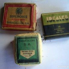 Paquetes de tabaco: LOTE 3 PAQUETES CIGARRILLOS IDEALES Y OTROS. Lote 65442966