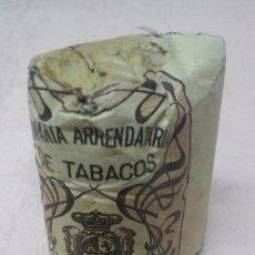 Paquetes de tabaco: COMPAÑIA ARRENDATARIA DE TABACOS - PICADO COMUN FUERTE 25 GRAMOS, ALFONSO XIII. Lote 137709200