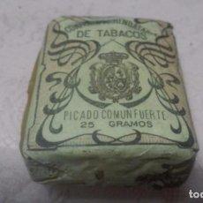 Maços de tabaco: COMPAÑIA ARRENDATARIA DE TABACOS - PICADO COMUN FUERTE 25 GRAMOS, ALFONSO XIII . Lote 66046974