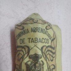 Paquetes de tabaco: COMPAÑIA ARRENDATARIA DE TABACOS - PICADO COMUN FUERTE 25 GRAMOS, ALFONSO XIII . Lote 66115858