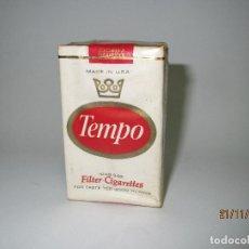 Pacchetti di tabaco: ANTIGUO PAQUETE DE TABACO CIGARRILLOS TEMPO MADE IN USA - AÑO 1970S.. Lote 67361401