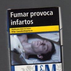 Paquetes de tabaco: CAJETILLA VACÍA DE L & M BLUE LABEL. Lote 67415061