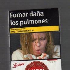 Paquetes de tabaco: CAJETILLA VACÍA DE LUCKY STRIKE RED. Lote 67415961