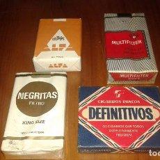 Paquetes de tabaco: 4 PAQUETES TABACO. Lote 67858513