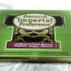 Paquetes de tabaco: CAJA HOJALATA. CIGARRILLOS ABDULLA IMPERIAL PREFERENCE.. Lote 68608422