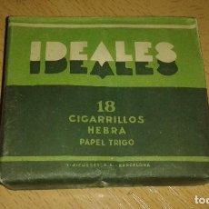 Paquetes de tabaco: PAQUETE DE TABACO IDEALES 18 CIGARRILLOS HEBRA PAPEL DE TRIGO, LLENO.. Lote 68619069