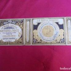 Paquetes de tabaco: LA NUEVA HABANA. GRAN FABRICA DE TABACOS. HIJOS DE JULIAN REIG. 20 CIGARRILLOS HEBRA.. Lote 72317679
