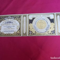 Paquetes de tabaco: LA NUEVA HABANA. GRAN FABRICA DE TABACOS. HIJOS DE JULIAN REIG. 20 CIGARRILLOS HEBRA.. Lote 72318183