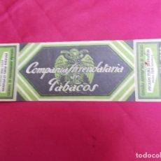 Paquetes de tabaco: ENVOLTORIO TABACOS. COMPAÑIA ARRENDATARIA DE TABACOS. PICADO FINO SUPERIOR.. Lote 72343155