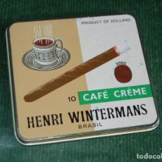 Paquetes de tabaco: CAJA HENRI WINTERMANS - 10 CAFE CREME. Lote 75022083