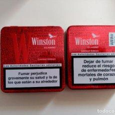 Paquetes de tabaco: LATA DE TABACO WINSTON, VACIA, EDICION LIMITADA. Lote 76178743