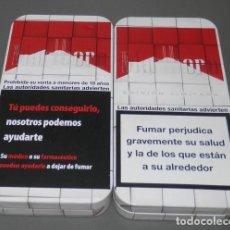Paquetes de tabaco: TABACOS MALBORO - CAJA METALICA. Lote 77334605