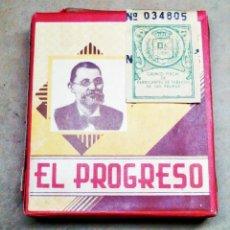 Paquetes de tabaco: 1 ANTIGUA ('60S-'70S) CAJETILLA CON CIGARRILLOS - NUNCA ABIERTA - 'EL PROGRESO' (ALQUITRÁN - ROJA) V. Lote 237094865