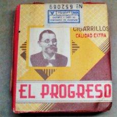 Paquetes de tabaco: 1 ANTIGUA ('60S-'70S) CAJETILLA CON CIGARRILLOS - NUNCA ABIERTA - 'EL PROGRESO' (ALQUITRÁN - ROJA) A. Lote 77852629