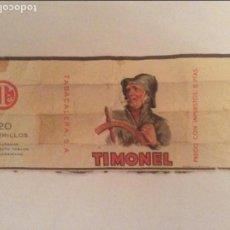 Paquetes de tabaco: ANTIGUO PAQUETE DE TABACO MARCA TIMONEL. Lote 79052453