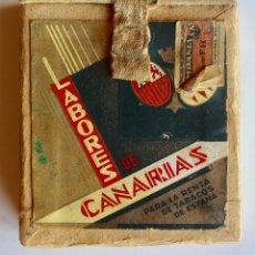 Paquetes de tabaco: CURIOSO PAQUETE DE CIGARRILLOS ELEGANTES, TRANSFORMADO PARA LLEVAR MAQUINILLA DE AFEITAR. Lote 80288613