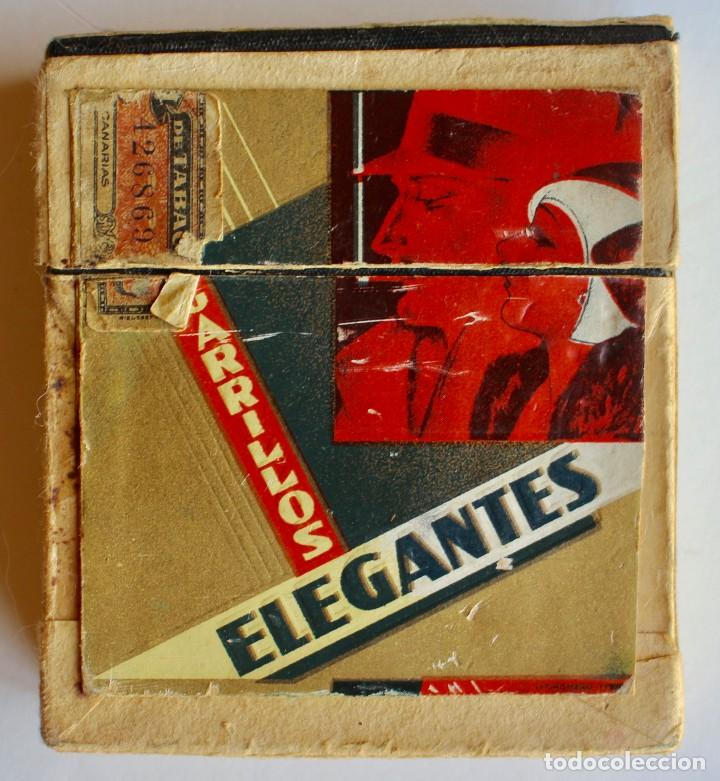 Paquetes de tabaco: CURIOSO PAQUETE DE CIGARRILLOS ELEGANTES, TRANSFORMADO PARA LLEVAR MAQUINILLA DE AFEITAR - Foto 4 - 80288613