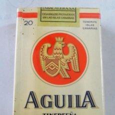 Paquetes de tabaco: PAQUETE DE TABACO AGUILA TINERFEÑA CIGARRILLOS. Lote 80368417