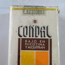 Paquetes de tabaco: PAQUETE DE TABACO CONDAL BAJO NICOTINA CIGARRILLOS (CANARIAS). Lote 186365383