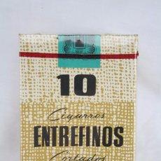 Maços de tabaco: CAJETILLA DURA DE CIGARRILLOS DE TABACO - ENTREFINOS CORTADOS - PRECINTADA / SIN IMPUESTO. Lote 93416430