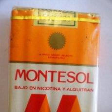 Paquetes de tabaco: PAQUETE DE CIGARRILLOS TABACO MONTESOL (CANARIAS). Lote 83657752