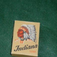 Paquetes de tabaco: CAJA 5 CIGARROS INDIANA LUXE, HEDIGER ET CIE, SUIZA - VACIA, AÑOS 1940S, MEDIDAS 5X3,5CM. Lote 86922632