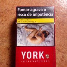 Paquetes de tabaco: PAQUETE DE TABACO YORK,VACIO. Lote 87044940